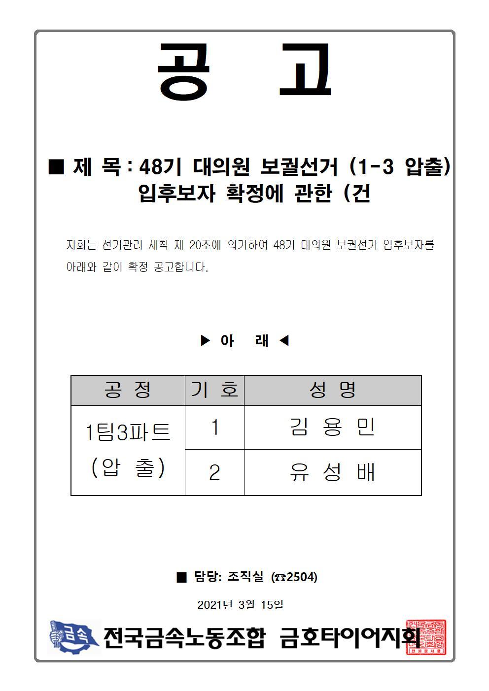 48기 대의원보궐선거(1-3압출)입후보자확정 (건001.jpg